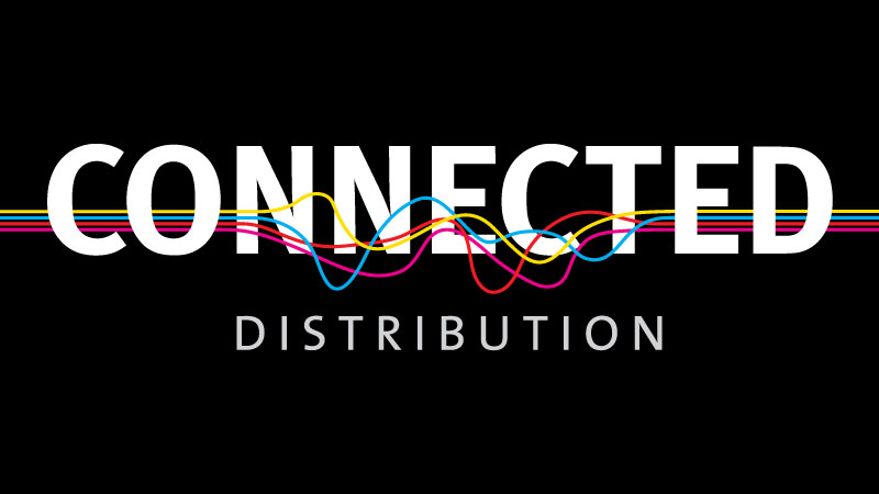 connected distribution new logo and branding design